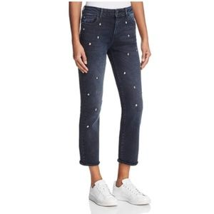 DL1961 Mara Straight Ankle Jeans in Studded Ocean